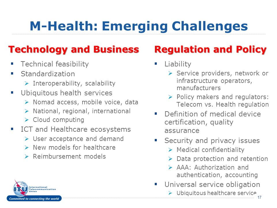 M-Health: Emerging Challenges
