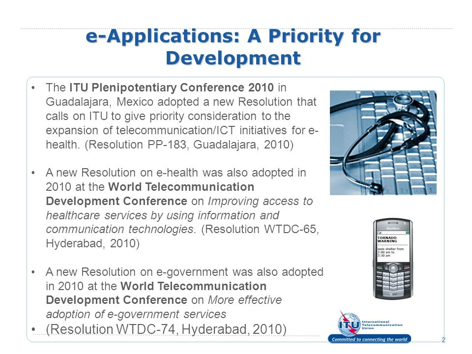 e-Applications: A Priority for Development