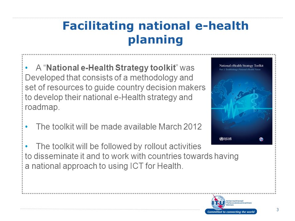 Facilitating national e-health planning