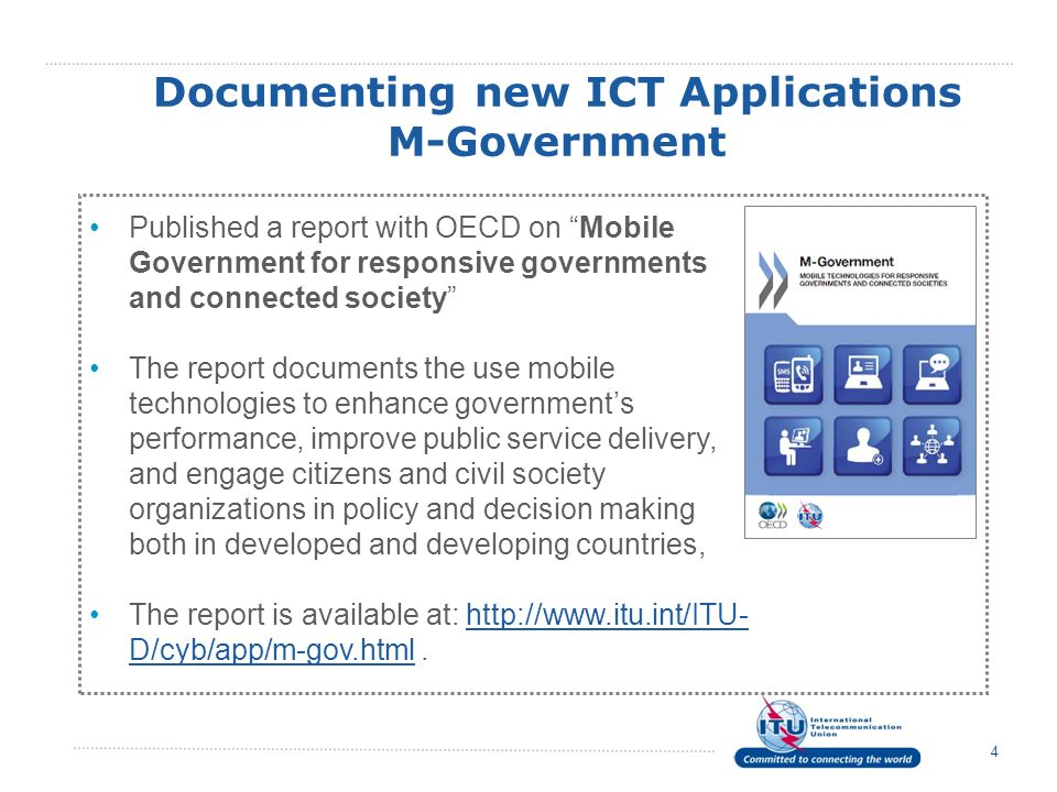 Documenting new ICT Applications M-Government