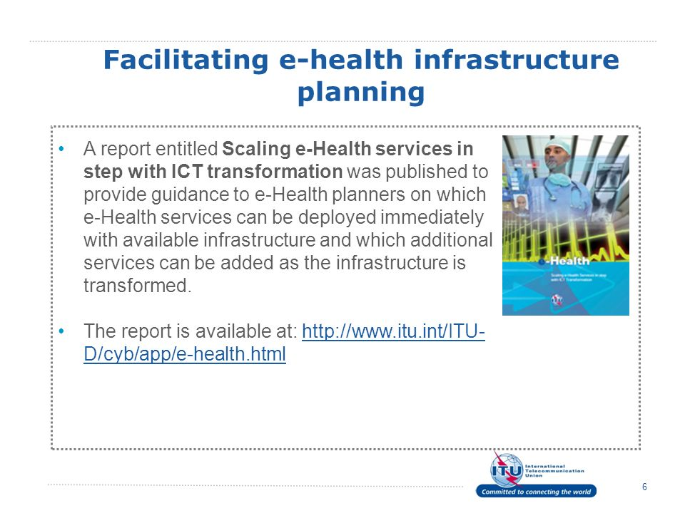 Facilitating e-health infrastructure planning
