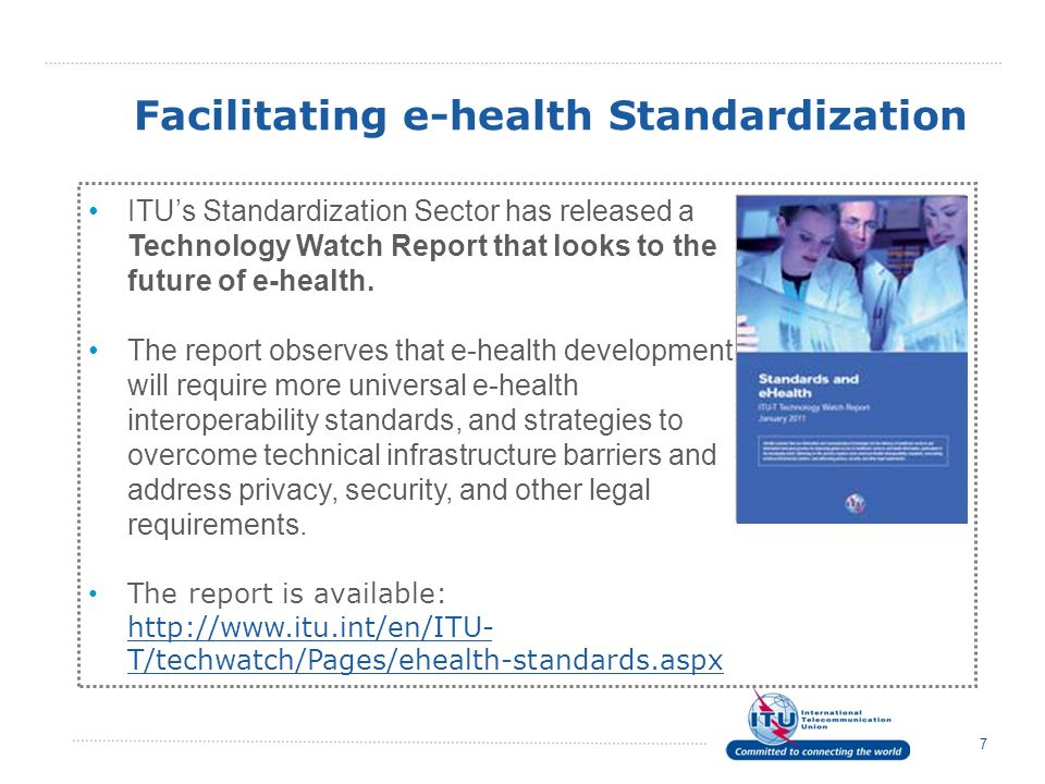 Facilitating e-health Standardization