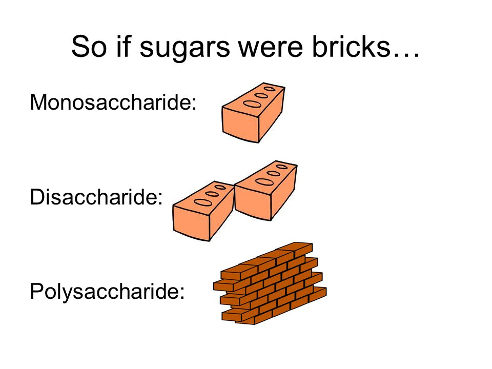 So if sugars were bricks…