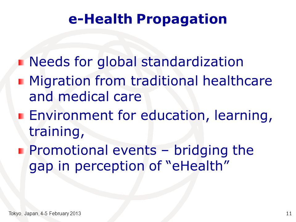 Needs for global standardization