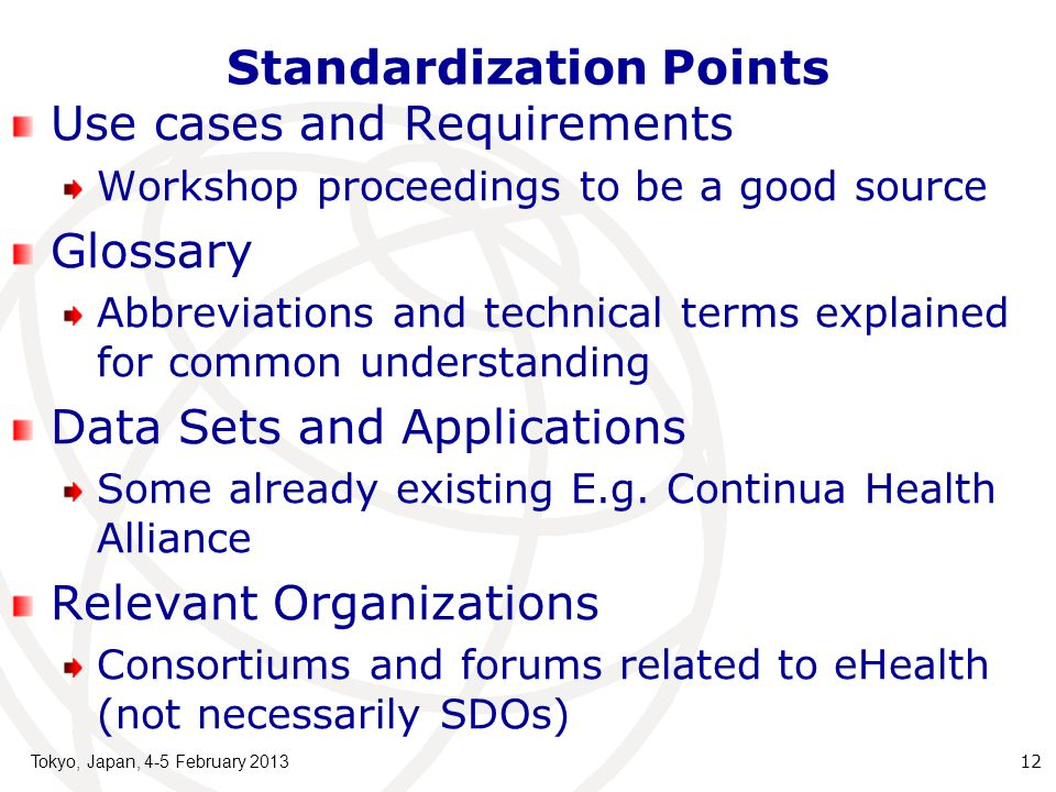 Standardization Points
