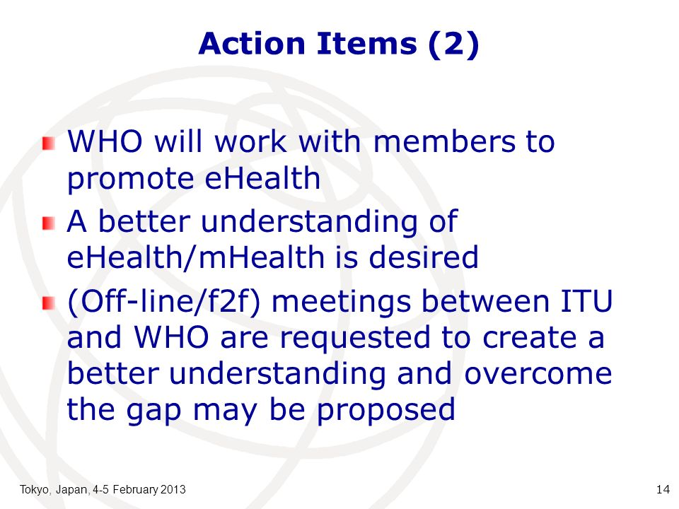 WHO will work with members to promote eHealth
