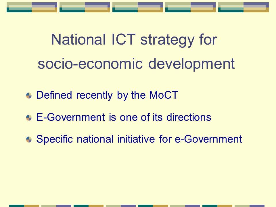 National ICT strategy for socio-economic development