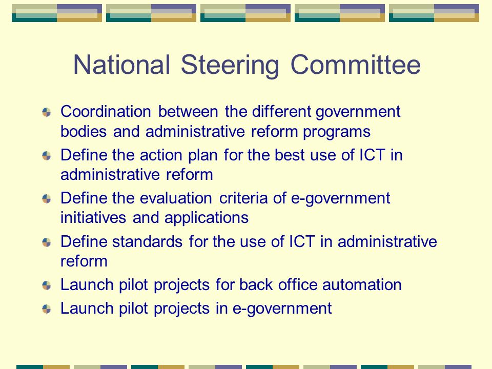 National Steering Committee