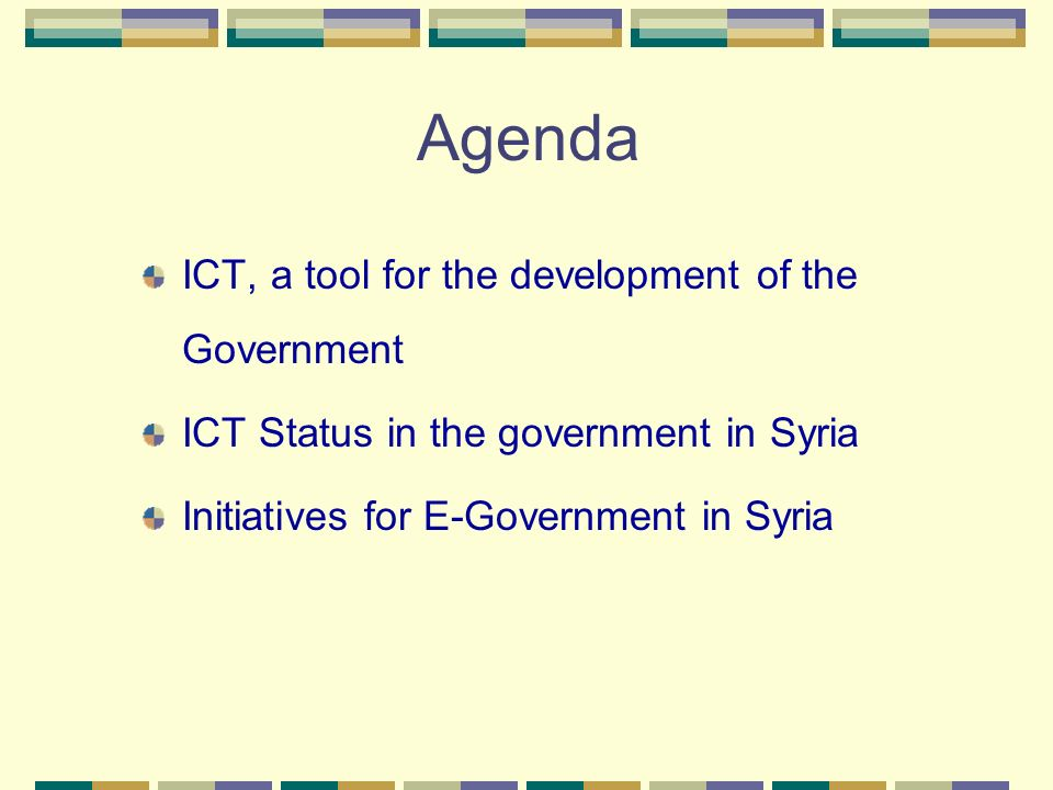 Agenda ICT, a tool for the development of the Government