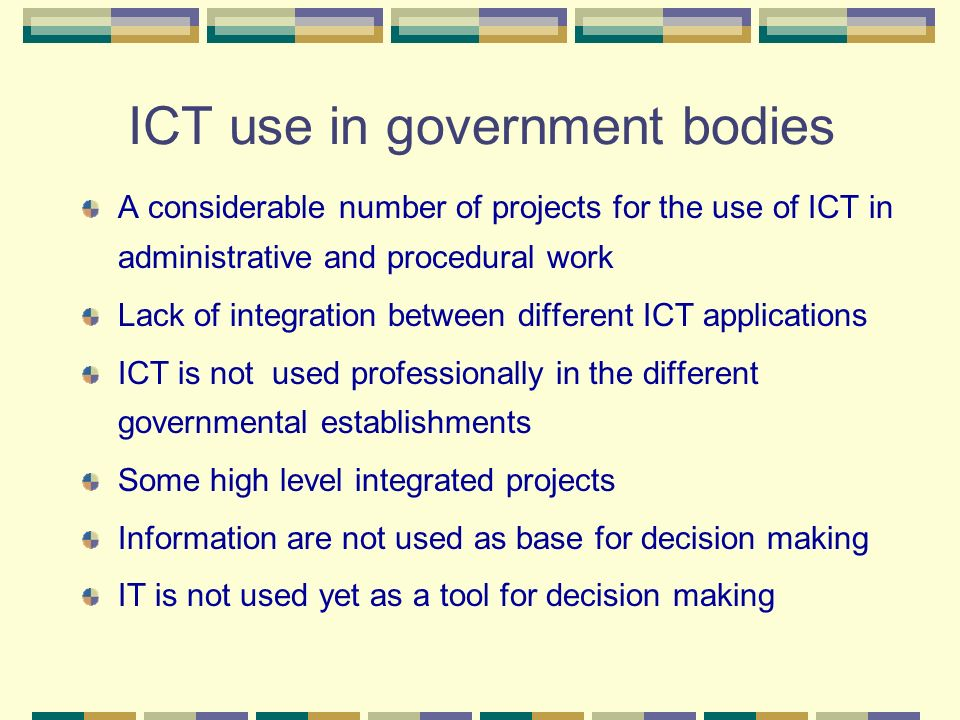 ICT use in government bodies