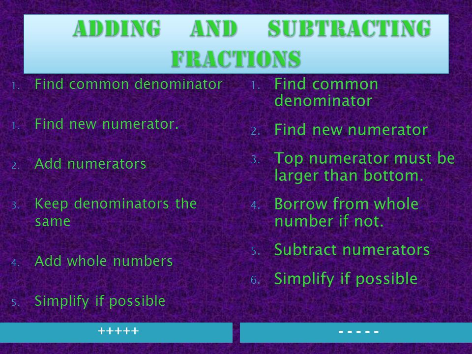 Fractions review ppt download 27 adding and subtracting fractions ccuart Gallery
