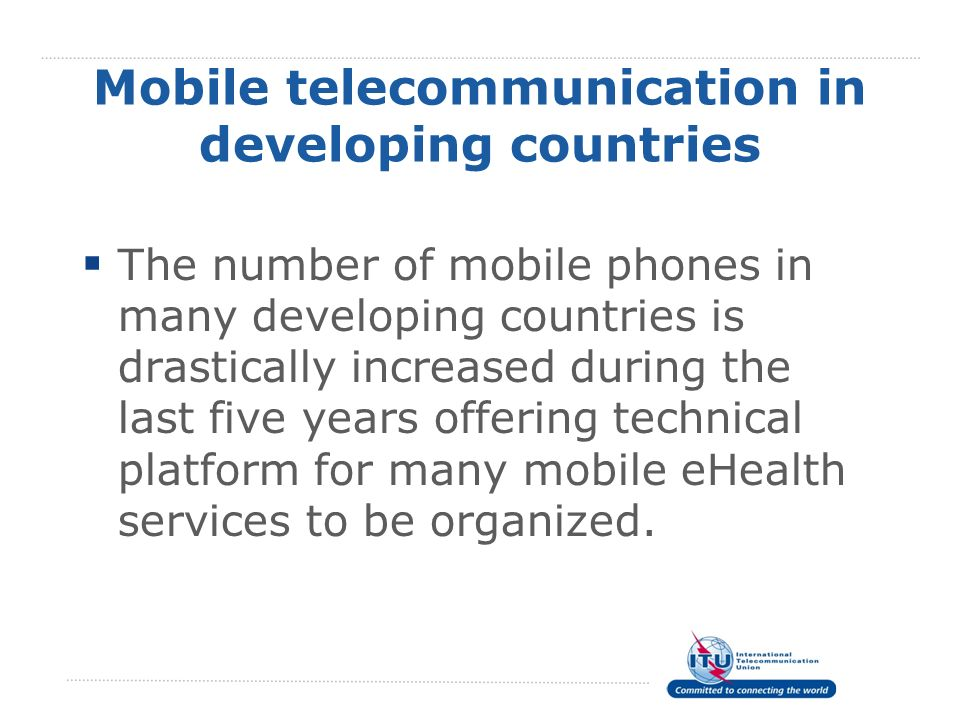 Mobile telecommunication in developing countries