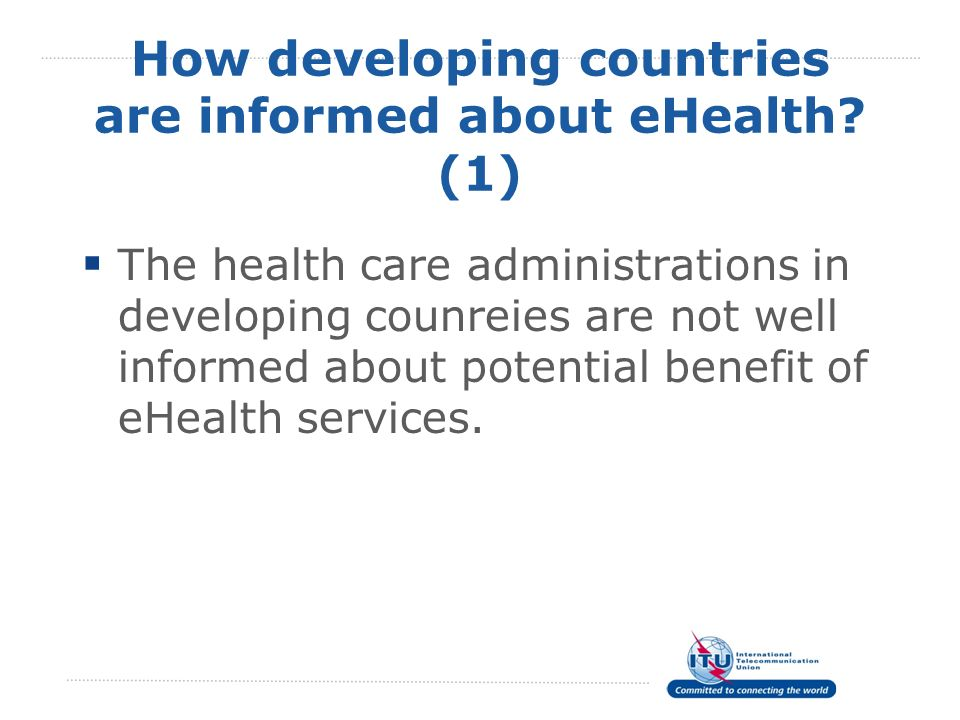 How developing countries are informed about eHealth (1)