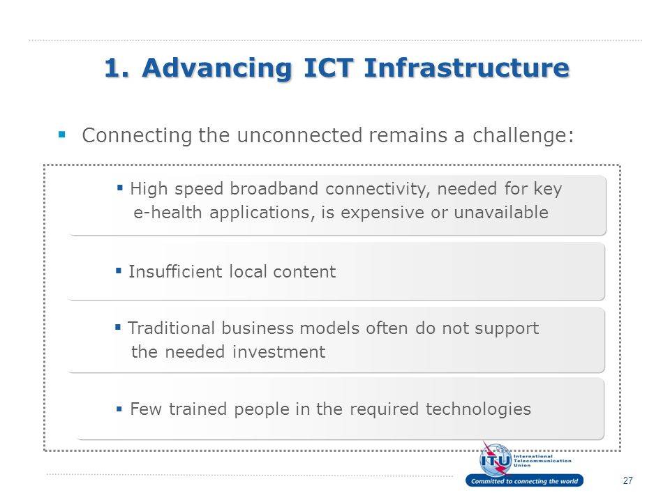 1. Advancing ICT Infrastructure