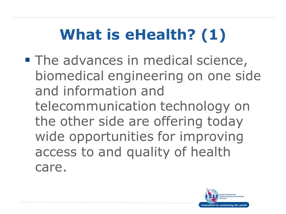 What is eHealth (1)