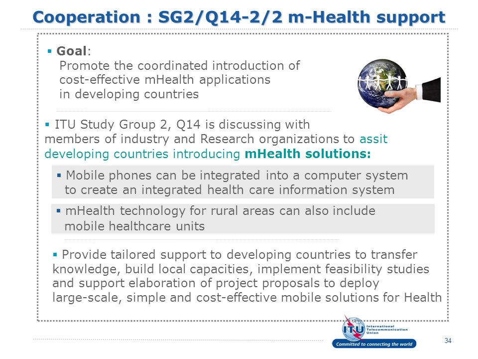 Cooperation : SG2/Q14-2/2 m-Health support