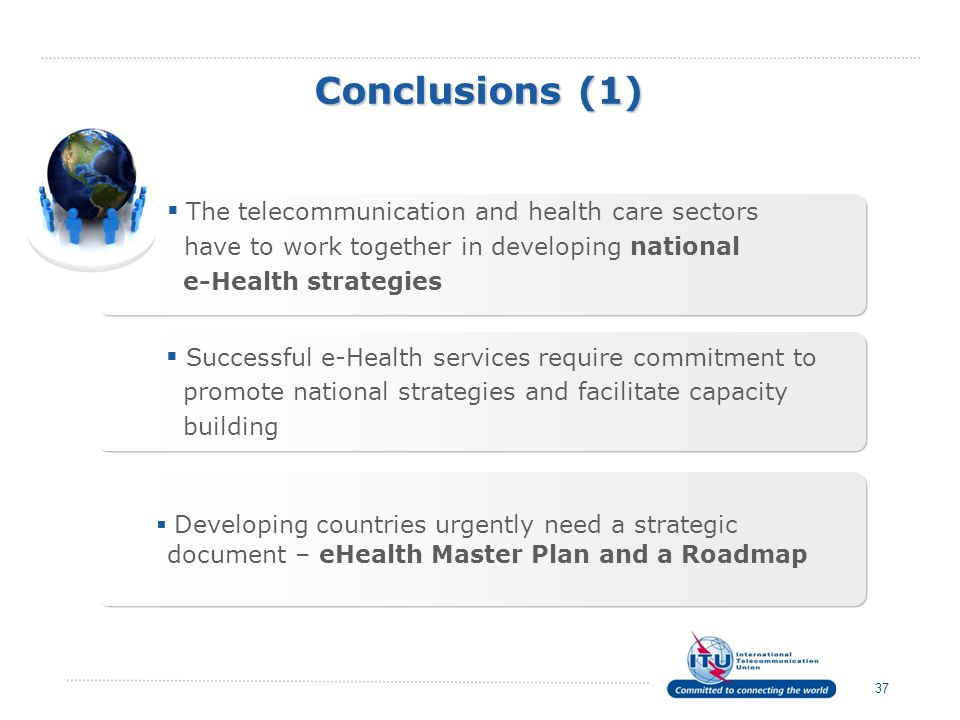 Conclusions (1) The telecommunication and health care sectors