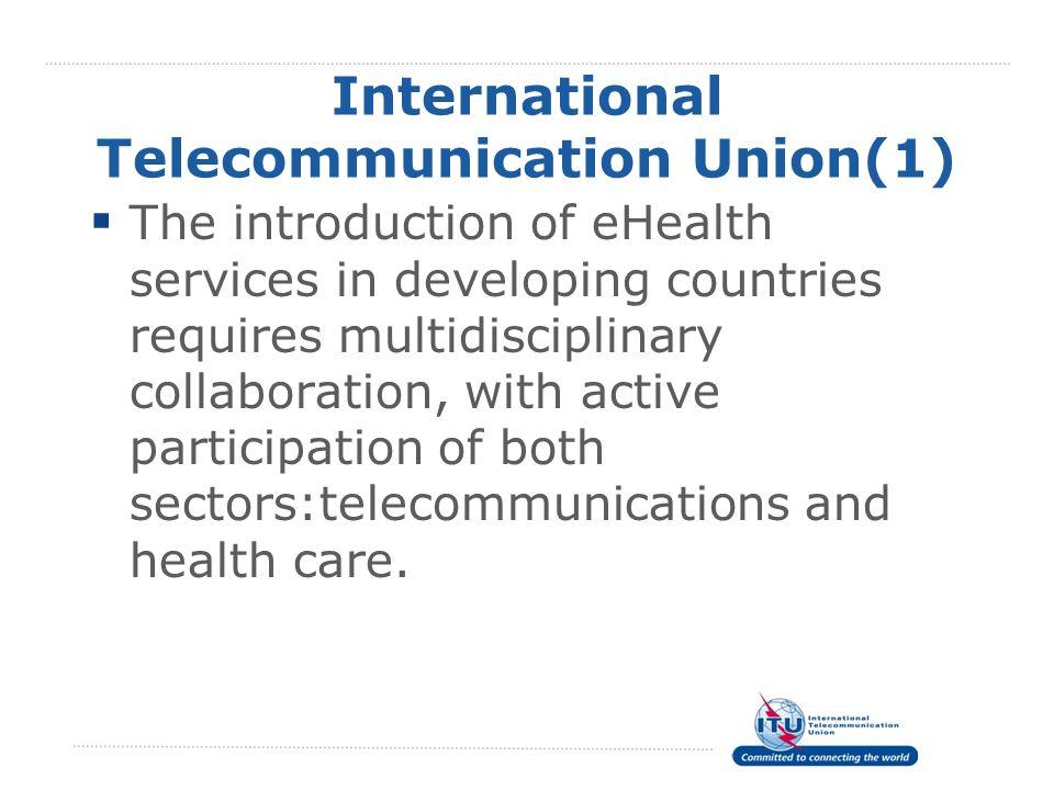 International Telecommunication Union(1)