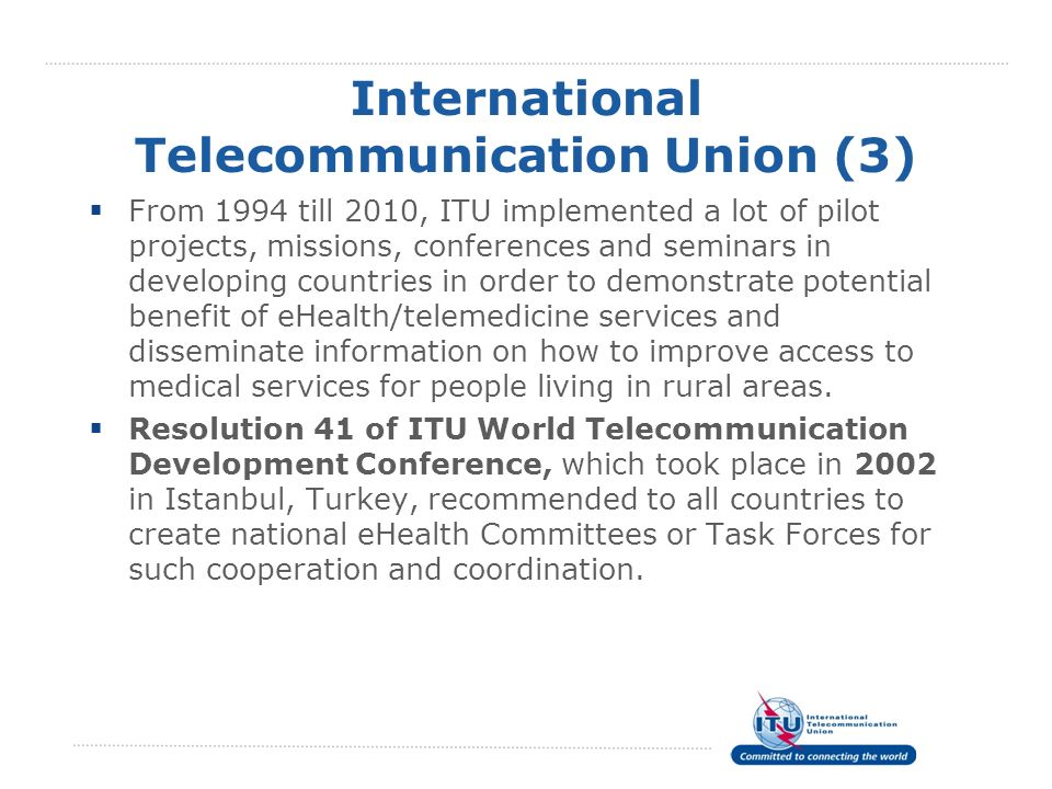 International Telecommunication Union (3)