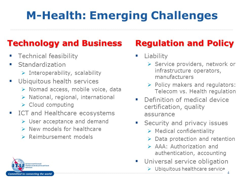 M-Health: Emerging Challenges