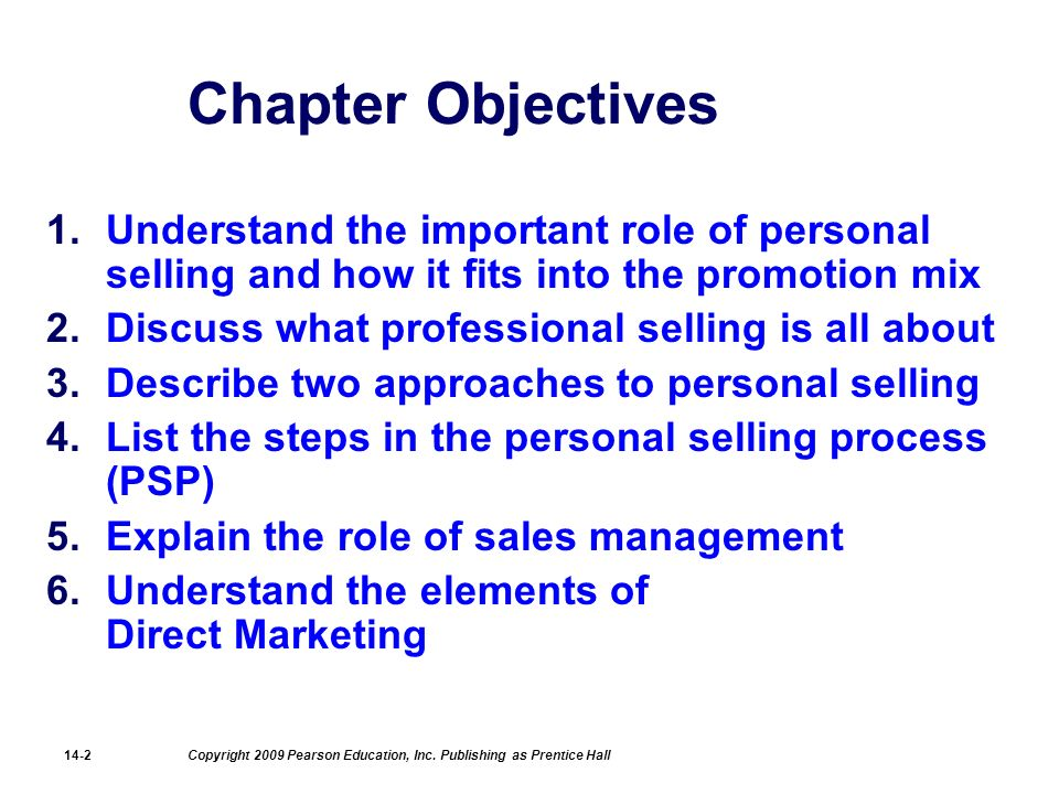 role of personal selling Personal selling determining the role of personal selling how cost effective is  each alternative how effective is each alternative in carrying out the needed.