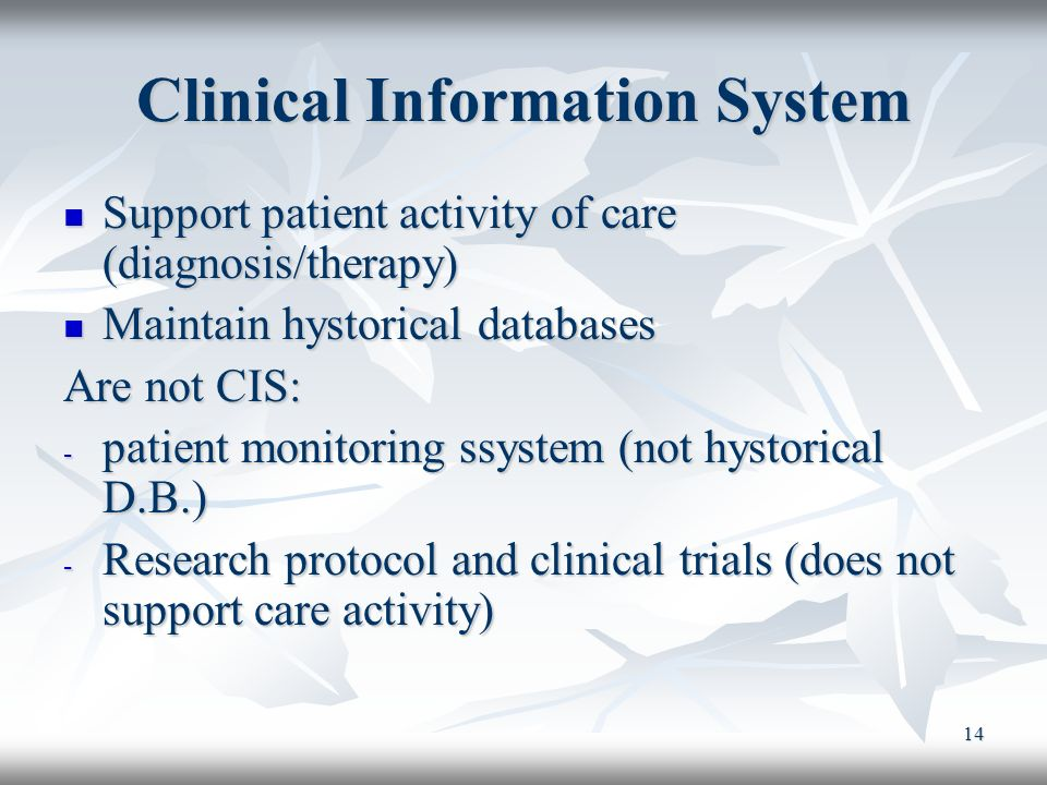 Clinical Information System