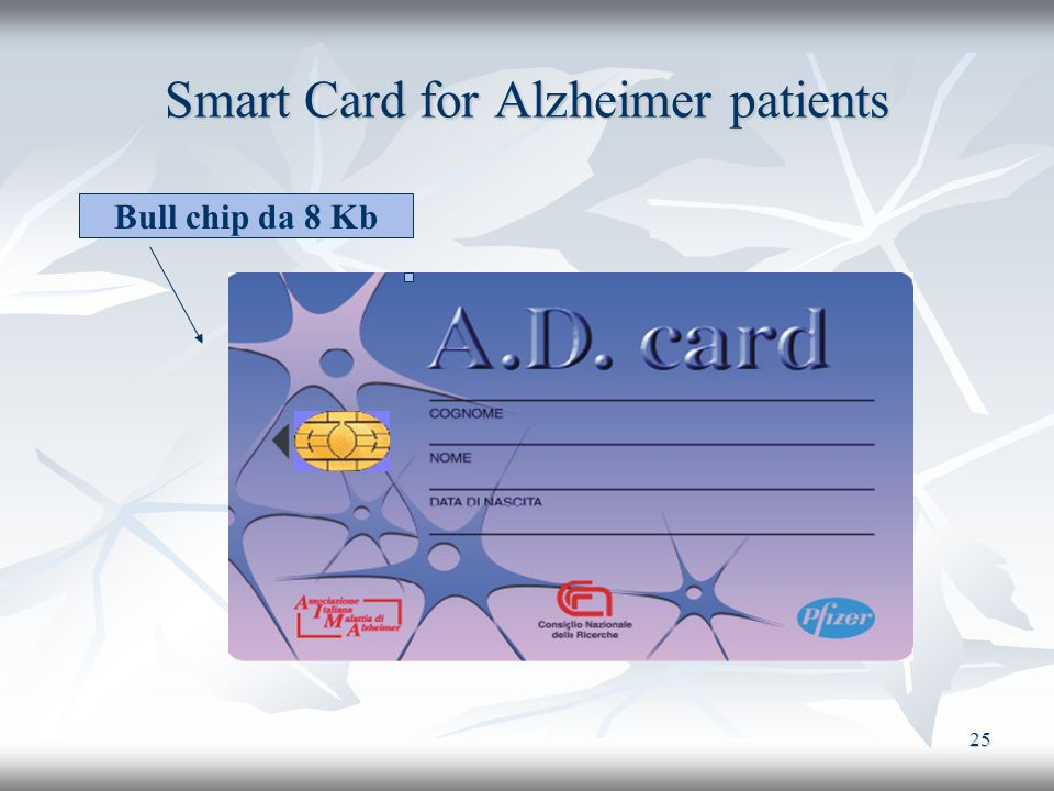 Smart Card for Alzheimer patients