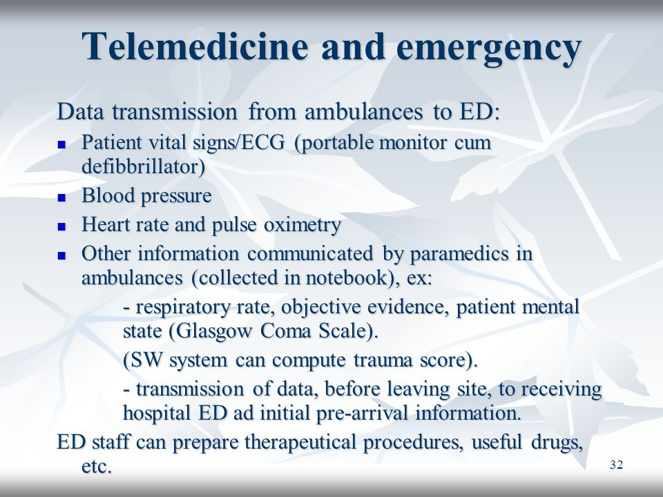 Telemedicine and emergency