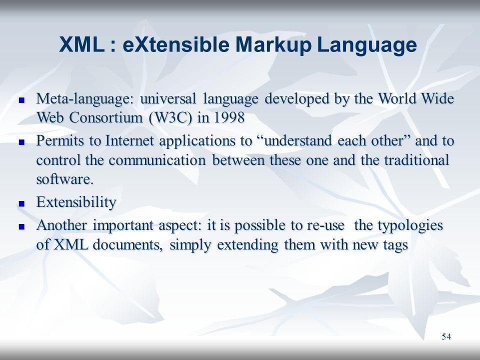 XML : eXtensible Markup Language