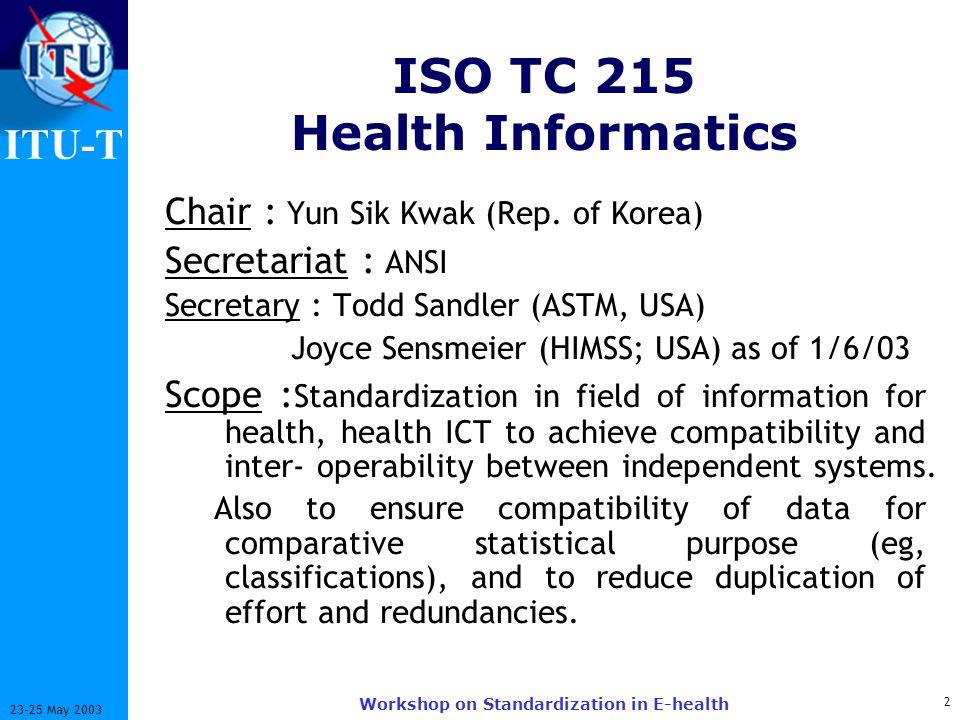 ISO TC 215 Health Informatics