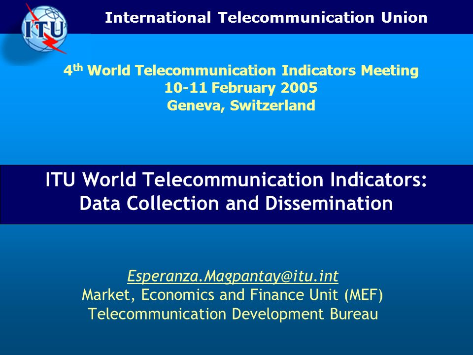 4th World Telecommunication Indicators Meeting