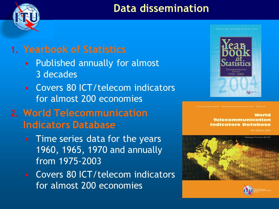 Data dissemination Yearbook of Statistics