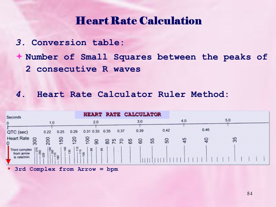 how to calculate hear rate in ambilitory