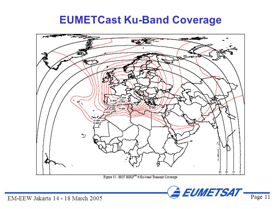 EUMETCast Ku-Band Coverage