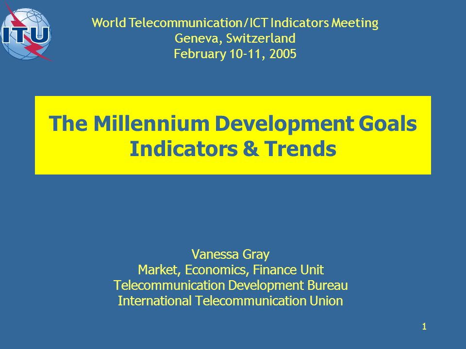 The Millennium Development Goals Indicators & Trends