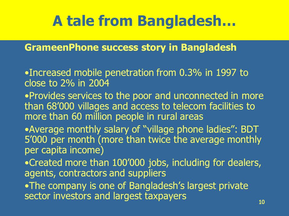 A tale from Bangladesh…