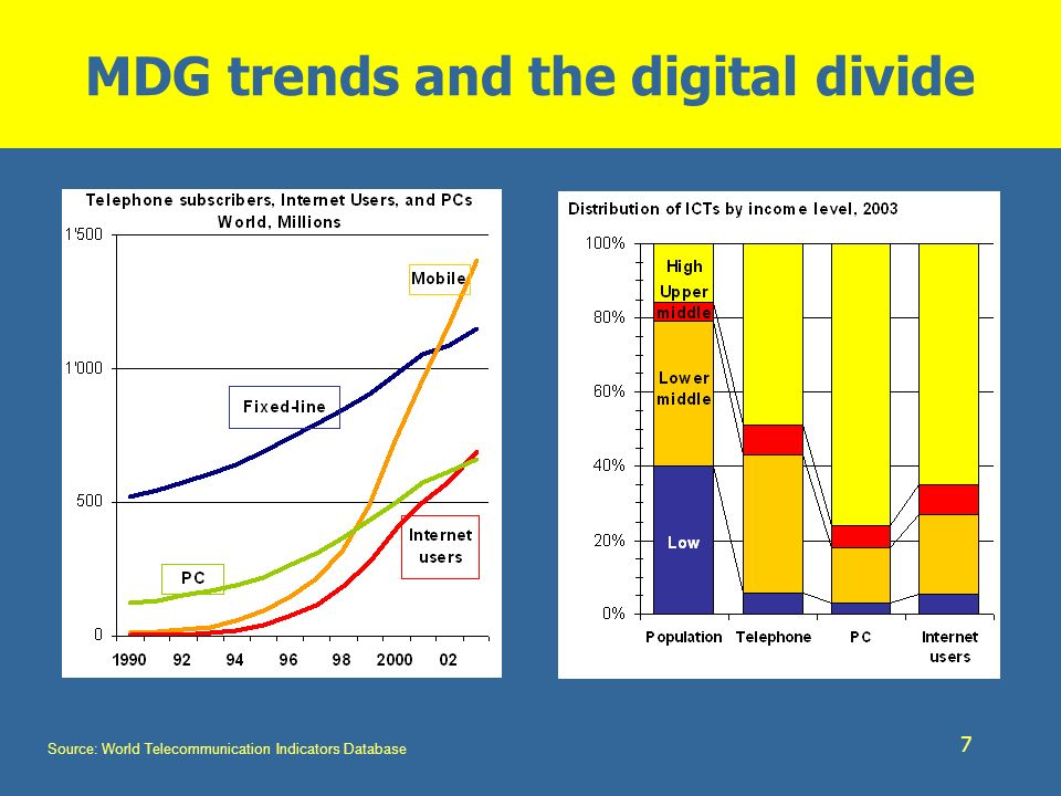 MDG trends and the digital divide