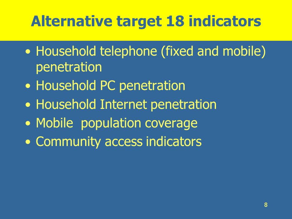 Alternative target 18 indicators