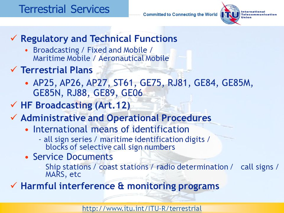 Terrestrial Services Regulatory and Technical Functions