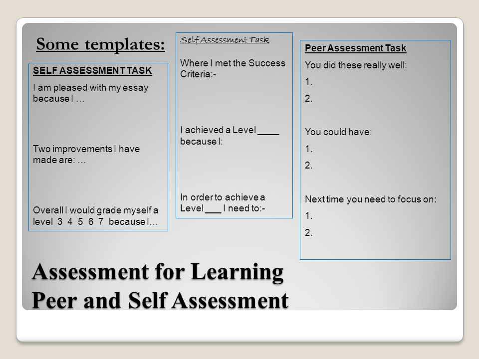 assessment of learning 3 essay Reflective essay on assessment – ed402 (2013) university of the south pacific [usp], fiji islands assessment in learning and teaching, one of the most crucial aspects of the educative process is assessing student learning.