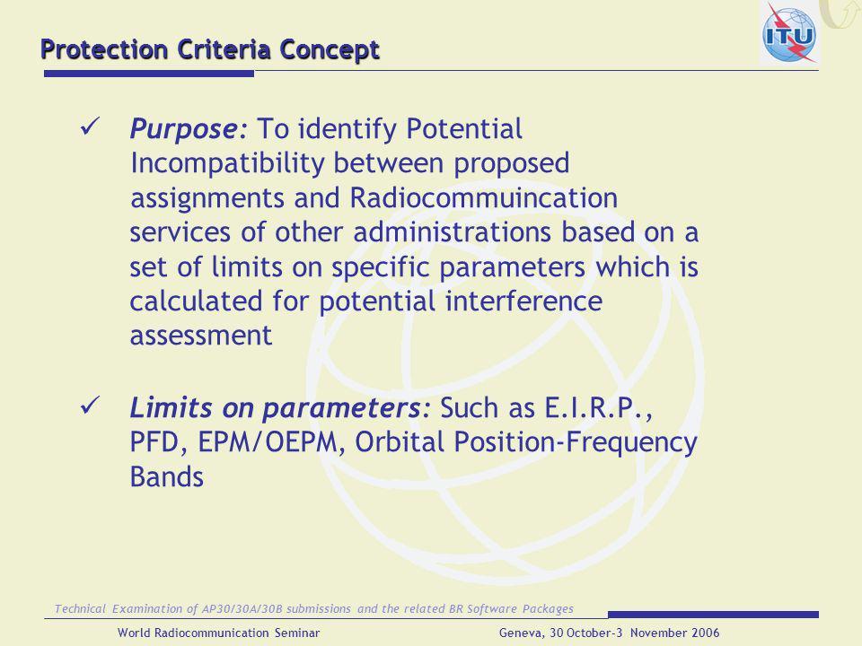 Protection Criteria Concept