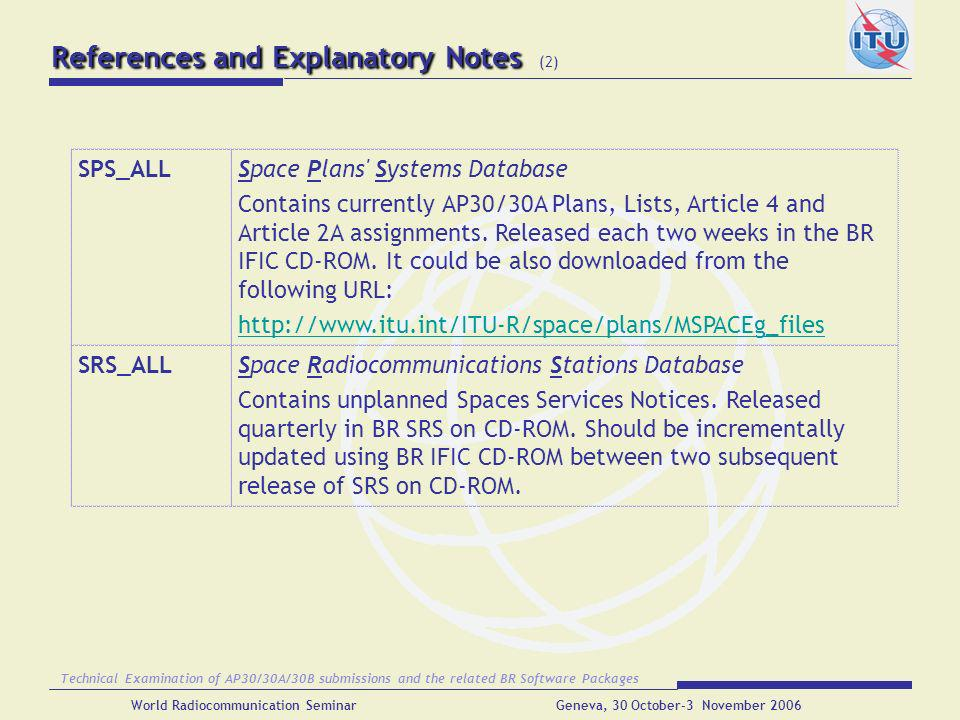 References and Explanatory Notes (2)