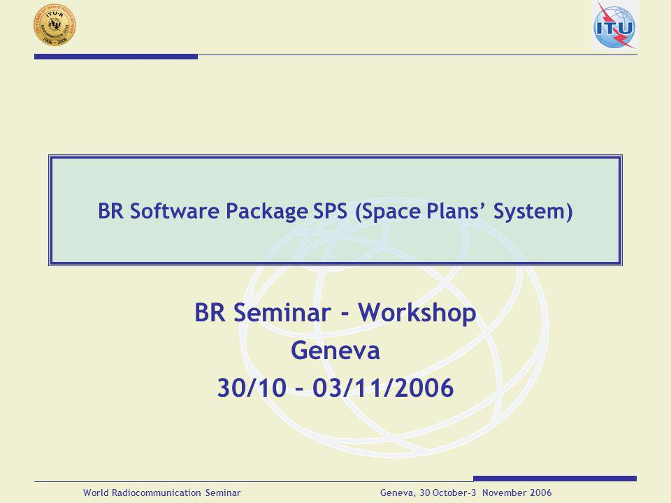 BR Software Package SPS (Space Plans' System)