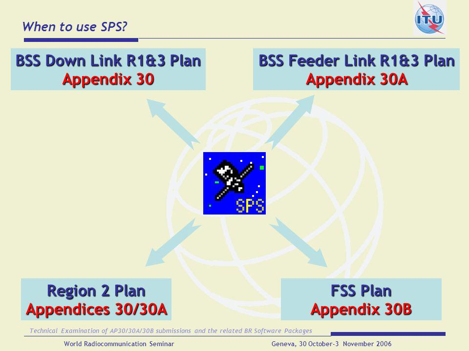 BSS Down Link R1&3 Plan Appendix 30 BSS Feeder Link R1&3 Plan