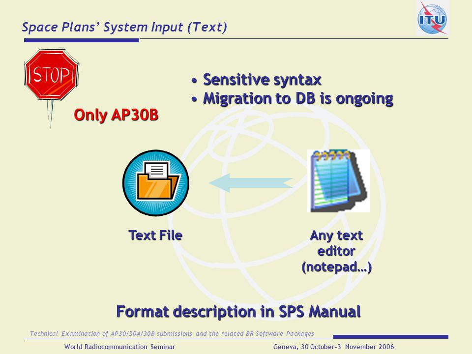 Space Plans' System Input (Text)
