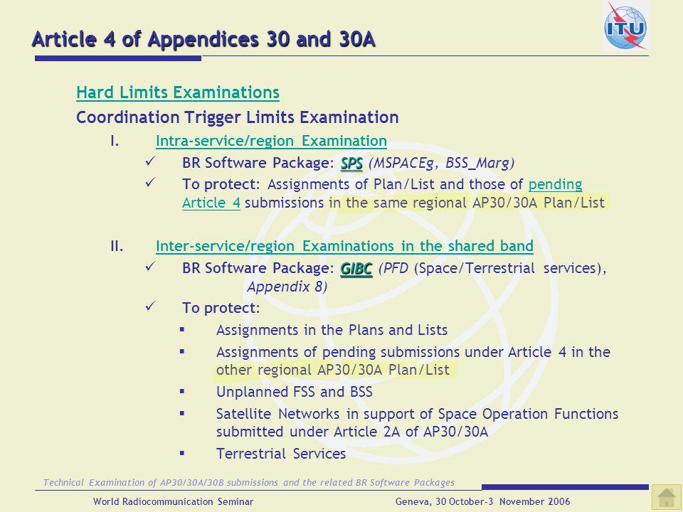 Article 4 of Appendices 30 and 30A
