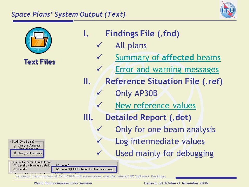 Space Plans' System Output (Text)