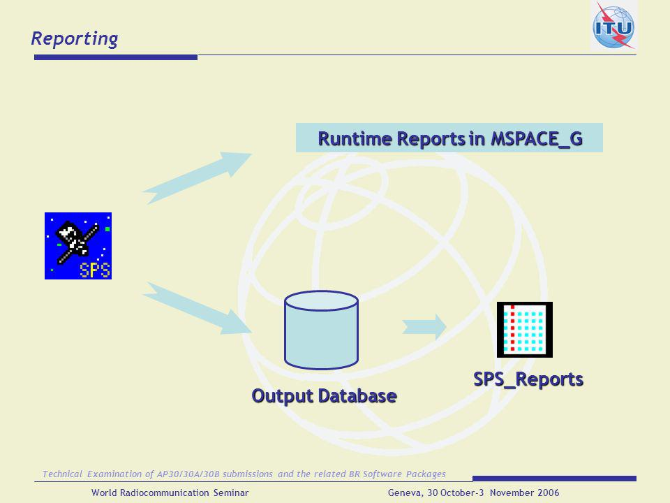 Runtime Reports in MSPACE_G