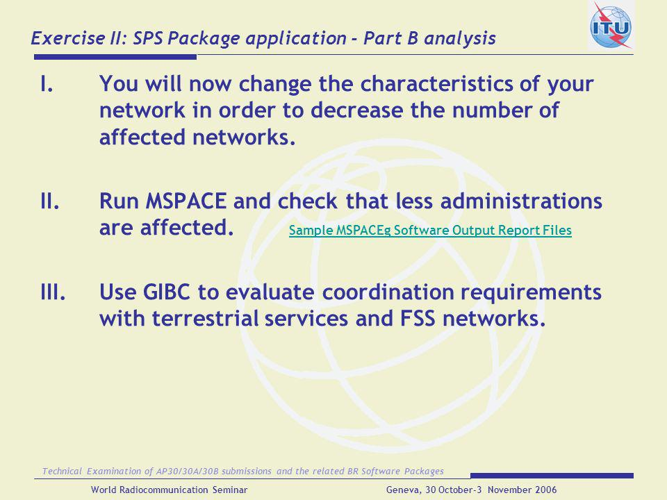 Exercise II: SPS Package application - Part B analysis
