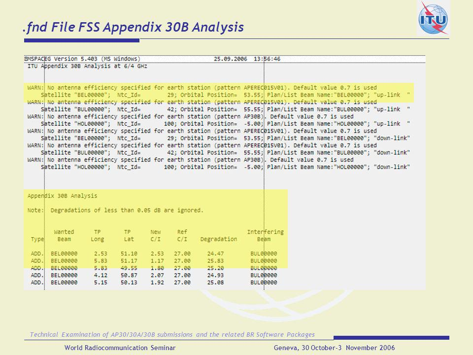 .fnd File FSS Appendix 30B Analysis